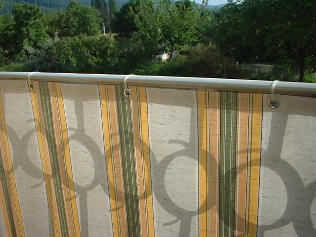 balkonbespannung balkon sichtschutz von hofsaess. Black Bedroom Furniture Sets. Home Design Ideas